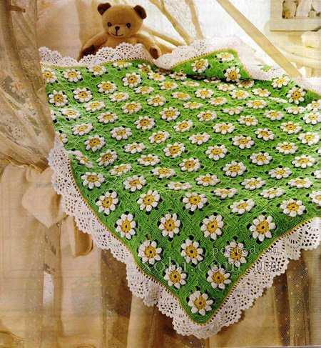 детские пледы и одеяла для новорожденных 13 моделей вязаный